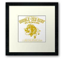 Davengatt's Double-Zed Nerf Ranch Framed Print