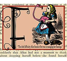 Alice in Wonderland and Through the Looking Glass Alphabet F Photographic Print