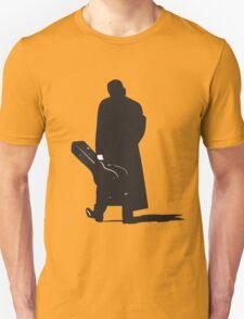 johnny cash back walking with guitar art T-Shirt