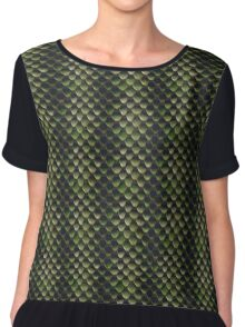 Green Reptile scales Chiffon Top
