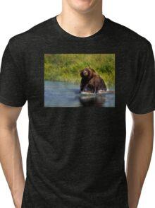 Alaska Brown Bear Tri-blend T-Shirt