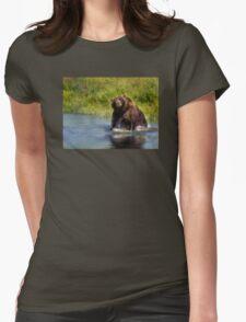 Alaska Brown Bear Womens Fitted T-Shirt