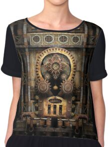 Infernal Steampunk Vintage Machine #3 Chiffon Top