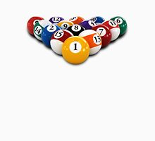 pool table Billiard game or snooker balls with numbers Unisex T-Shirt