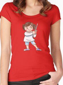 Backyard Star Wars - Princess Leia Women's Fitted Scoop T-Shirt