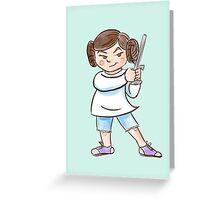 Backyard Star Wars - Princess Leia Greeting Card