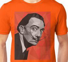 Salvador Dali geometric low-poly portrait Unisex T-Shirt