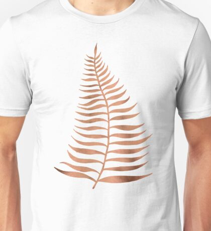 Palm Leaf – Rose Gold Unisex T-Shirt