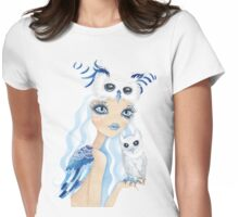 Owl Duchess Womens Fitted T-Shirt