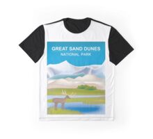 Great Sand Dunes National Park- Skyline Illustration By Loose Petals Graphic T-Shirt