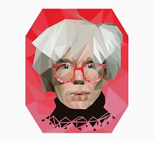 Andy Warhol low poly portrait Unisex T-Shirt
