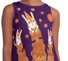 Psychedelic Rabbit Wizards  Contrast Tank