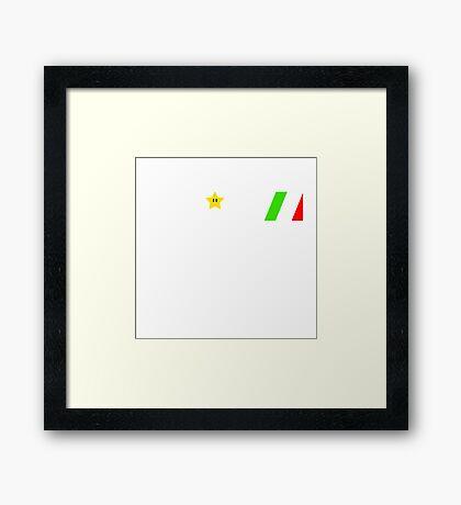 GI Mario Framed Print
