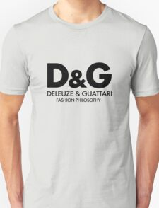 Deleuze - Guattari - Fashion Philosophy - Black Unisex T-Shirt