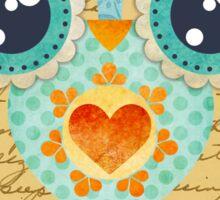 Owl's Summer Love Letters Sticker