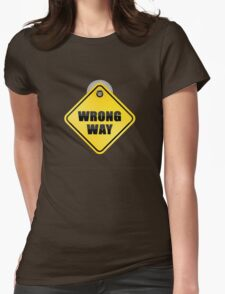 dead end car glass sticky note Womens Fitted T-Shirt
