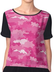 Romantic girly style camouflage pink pattern Chiffon Top