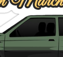 Nissan March/Micra K10 Two Tone Green Black Sticker