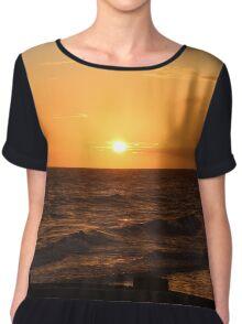 Golden Sunset Chiffon Top