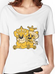 king queen couple couple love love prince princess crown old opa zepter Teddy Bear comic cartoon sweet cute Women's Relaxed Fit T-Shirt