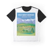 Great Smokey Mountains National Park- Skyline Illustration By Loose Petals Graphic T-Shirt