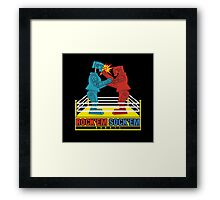 Rock'em Sock'em - 2D Original Punch Variant Framed Print