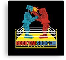 Rock'em Sock'em - 2D Original Punch Variant Canvas Print