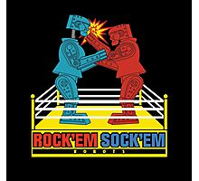 Rock'em Sock'em - 2D Original Punch Variant Photographic Print
