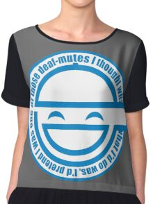 Best Quality Ghost in the Shell Laughing Man Logo super HD Chiffon Top