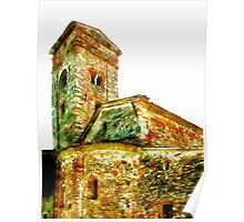 Pieve di Tho: church apse with bell tower Poster