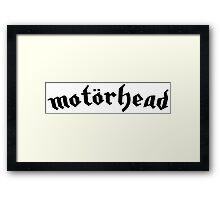 Motorhead - Black Framed Print