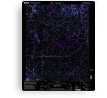 USGS TOPO Map Alabama AL Danville 303644 2000 24000 Inverted Canvas Print