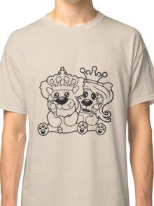 king queen couple couple love love prince princess crown old opa zepter Teddy Bear comic cartoon sweet cute Classic T-Shirt