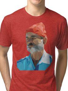 The Life Aquatic with Steve Zissou geometric low poly portrait - Bill Murray Tri-blend T-Shirt