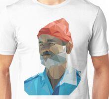 The Life Aquatic with Steve Zissou geometric low poly portrait - Bill Murray Unisex T-Shirt