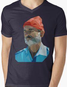 The Life Aquatic with Steve Zissou geometric low poly portrait - Bill Murray Mens V-Neck T-Shirt