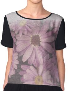 Daisies in Distress Chiffon Top