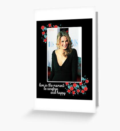 Stana Katic Greeting Card
