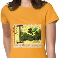 Alice in Wonderland and Through the Looking Glass Alphabet I Womens Fitted T-Shirt