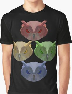 All of the Owls! Graphic T-Shirt