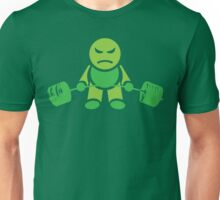Cute Weightlifting Robot - Deadlift (Green) Unisex T-Shirt