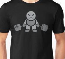 Cute Weightlifting Robot - Deadlift (Grey) Unisex T-Shirt