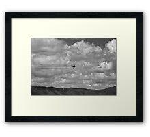 Thunderbirds in Colorado Springs #8 (Black and white) Framed Print