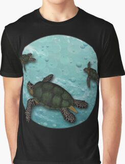 All Three Together Seaturtle Art Graphic T-Shirt