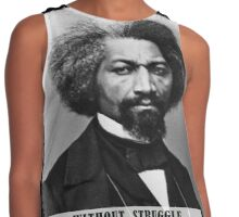 Frederick Douglass - Without Struggle There Can Be No Progress Contrast Tank