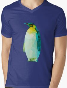 Zac the Penguin Mens V-Neck T-Shirt