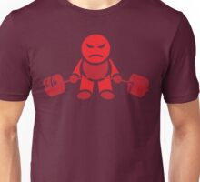 Cute Weightlifting Robot - Deadlift (Red) Unisex T-Shirt