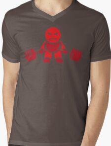 Cute Weightlifting Robot - Deadlift (Red) Mens V-Neck T-Shirt