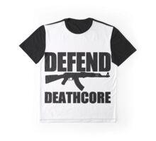 Defend Deathcore - Black Graphic T-Shirt