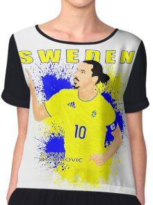 ZLATAN IBRAHIMOVIC SWEDEN, EURO 2016 Chiffon Top